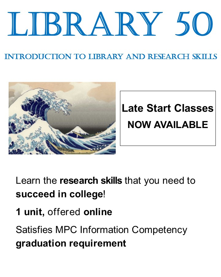 Library 50 Late Start classes available