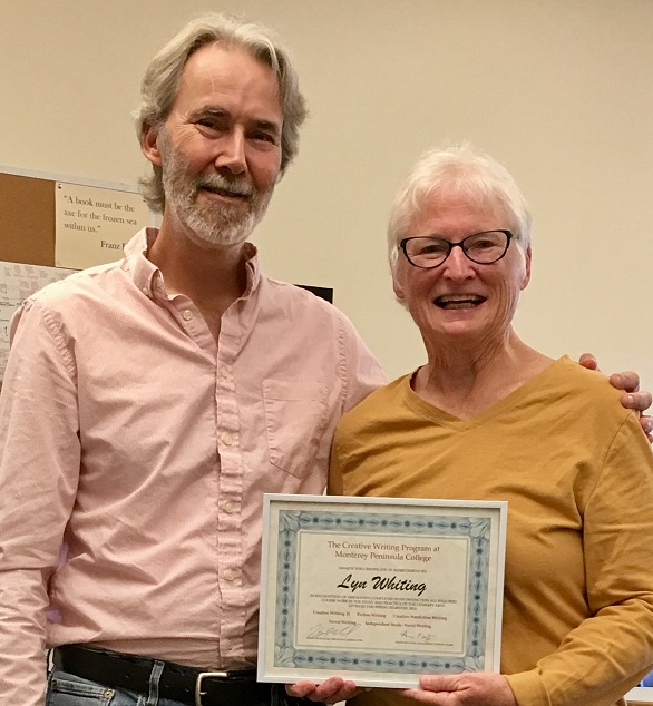 HM and Lyn Whiting w Certificate Spring 2018