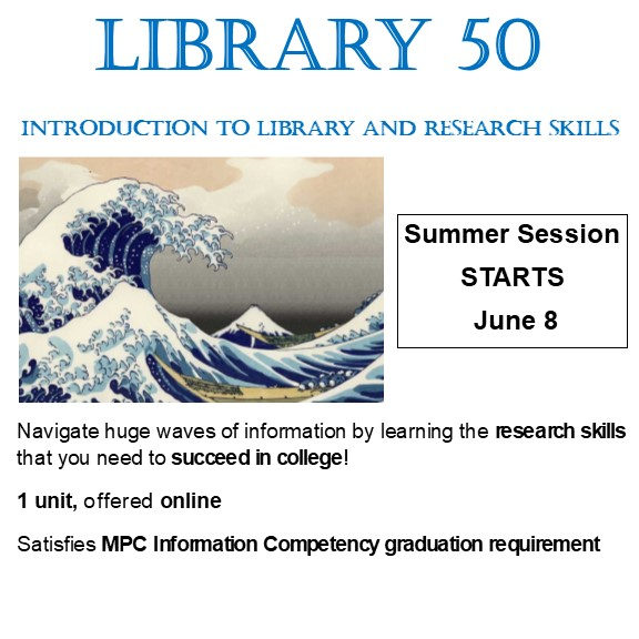 Library 50 Summer classes available