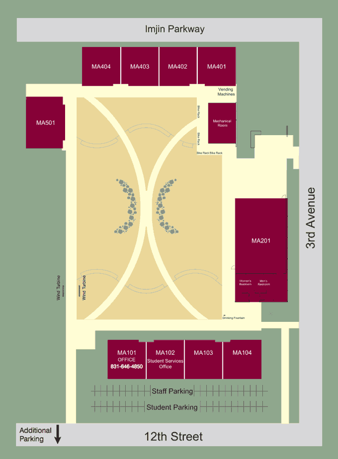 Map of the Marina Campus