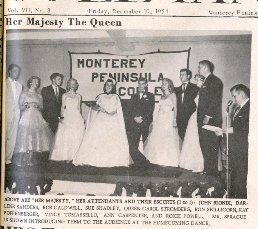Homecoming Court 1954 El Yanqui