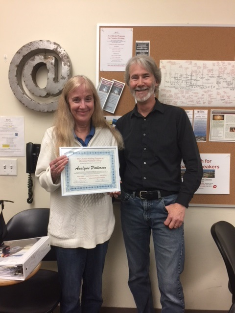 Analynn Patterson and Me, Certificate Presentation Spring 2018